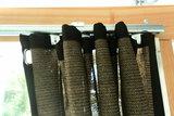 Verandadoek met schuif/railsysteem breed 350cm x hoog 200-240cm_