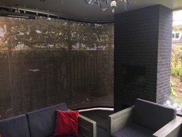 Verandadoek met schuif/railsysteem breed 350cm x hoog 200-240cm