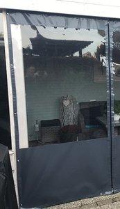 Verandazeil basic 0cm tm 100 cm breed met venster