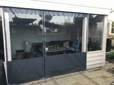 Verandazeil basic- 301cm tm 400cm breed met venster