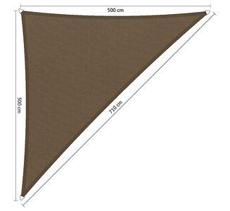 Schaduwdoek 500x500x710cm Triangle waterafstotend