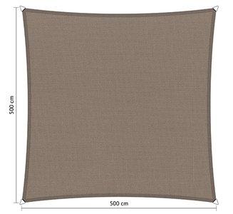 Schaduwdoek 500x500cm vierkant waterafstotend
